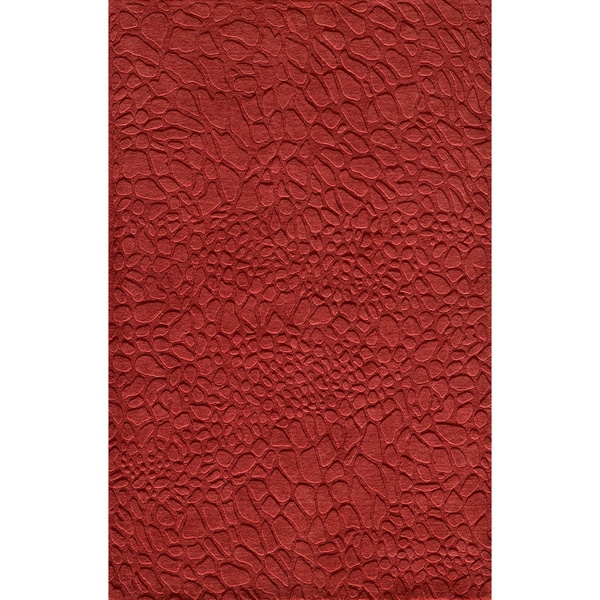 Loft Stones Red Hand-Loomed Wool Rug (8' x 11')
