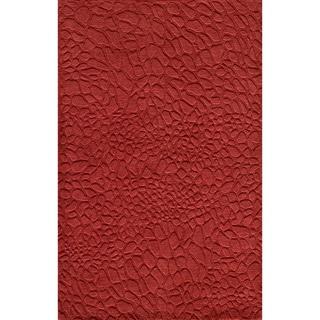 Loft Stones Red Hand-Loomed Wool Rug (8' x 11')