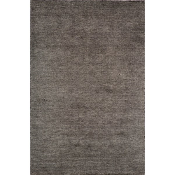 Loft Studio Charcoal Hand-Loomed Wool Rug (8' x 11')