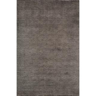 Loft Studio Charcoal Hand-Loomed Wool Rug (8' x 11')