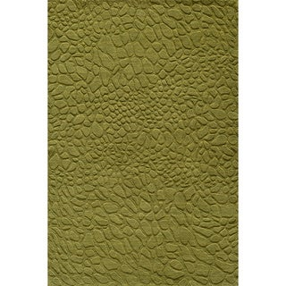 "Loft Stones Grass Hand-Loomed Wool Rug (3'6"" x 5'6"")"