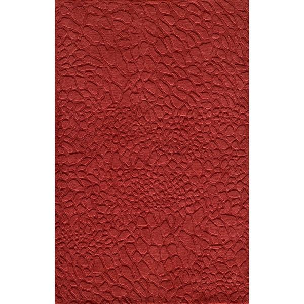 "Loft Stones Red Hand-Loomed Wool Rug (3'6"" x 5'6"")"