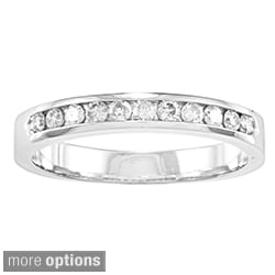 Auriya 10k Gold 1/4ct TDW Diamond Channel-set Wedding Band (J-K, I2-I3)