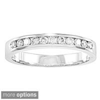 Auriya 10k Gold 1 4ct Tdw Channel Set Diamond Ring