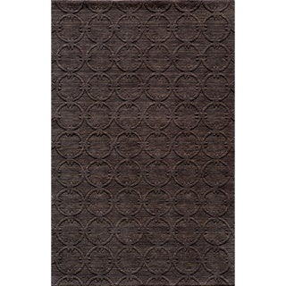 "Loft Links Charcoal Hand-Loomed Wool Rug (3'6"" x 5'6"")"