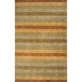 Loft Multi Stripes Hand-Loomed Wool Rug (7'6 x 9'6)