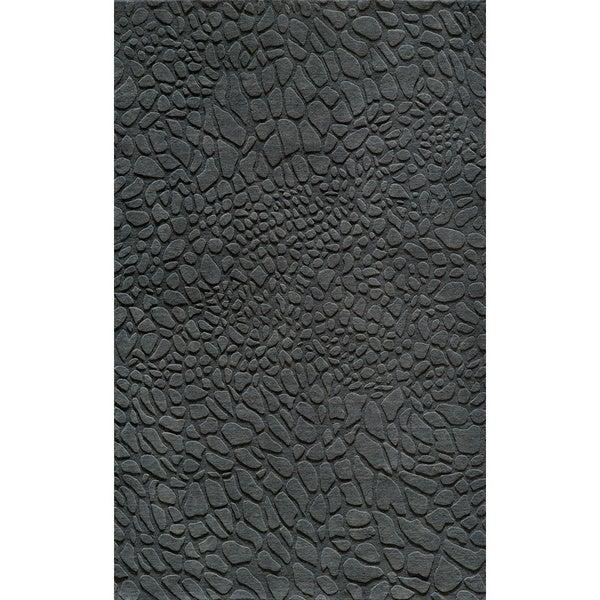 """Loft Stones Lagoon Hand-Loomed Wool Rug (7'6"""" x 9'6"""")"""