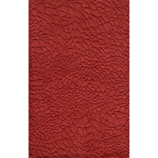 "Loft Stones Red Hand-Loomed Wool Rug (7'6"" x 9'6"")"