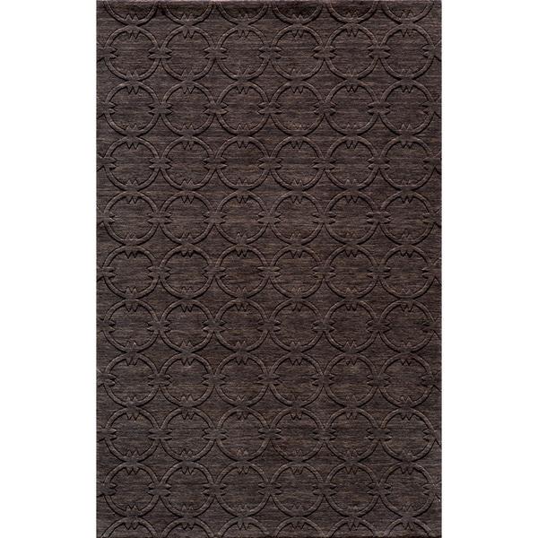 """Loft Links Charcoal Hand-Loomed Wool Rug (7'6"""" x 9'6"""")"""