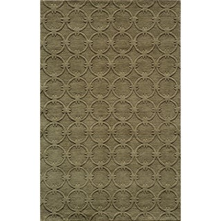 "Loft Links Sage Hand-Loomed Wool Rug (7'6"" x 9'6"")"