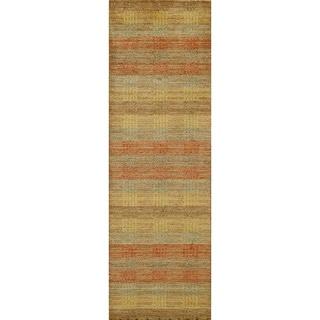 Loft Multi Stripes Hand-Loomed Wool Rug (2'6 x 8')