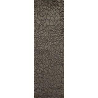 Loft Stones Sage Hand-Loomed Wool Rug (2'6 x 8')