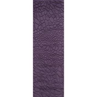 Loft Stones Purple Hand-Loomed Wool Rug (2'6 x 8')