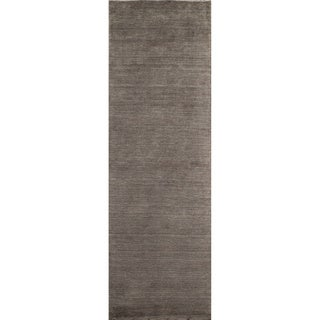 Loft Studio Charcoal Hand-Loomed Wool Rug (2'6 x 8')