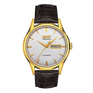 Tissot Men's T0194303603101 'Heritage Visodate' Automatic Brown Leather Watch