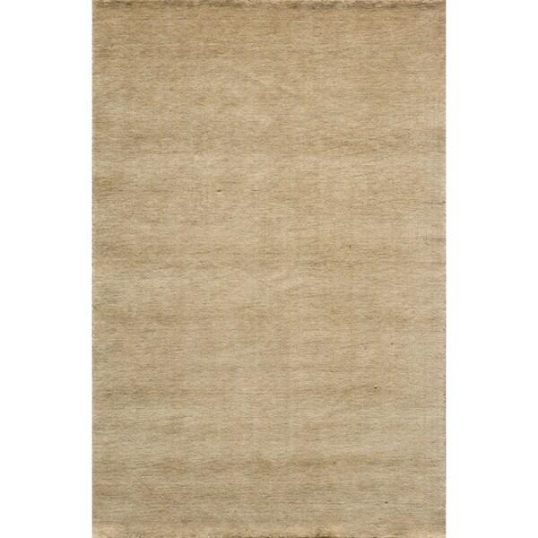 Loft Studio Wheat Hand-Loomed Wool Rug (2' x 3')