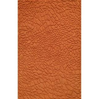 Loft Stones Tangerine Hand-Loomed Wool Rug (2' x 3')