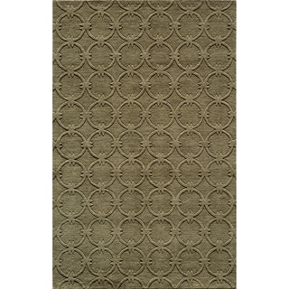 "Loft Links Sage Hand-Loomed Wool Rug (9'6"" x 13'6"")"