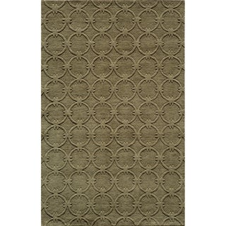"Loft Links Sage Hand-Loomed Wool Rug (9'6"" x 13'6"")"