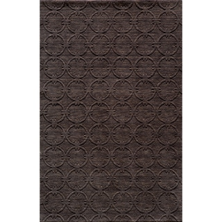 Loft Links Charcoal Hand-Loomed Wool Rug (2' x 3')