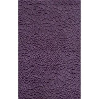 Loft Stones Purple Hand-Loomed Wool Rug (2' x 3')