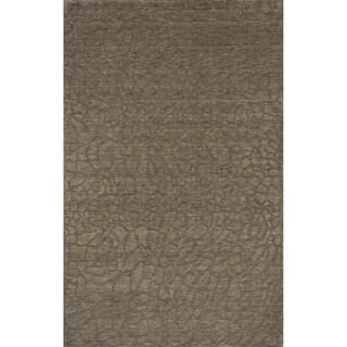Loft Stones Sage Hand-Loomed Wool Rug (2' x 3')