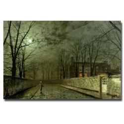 John Atkinson Grimshaw 'Silver Moonlight 1880' Canvas Art