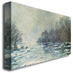 Claude Monet 'The Break up at Vetheuil 1883' Canvas Art