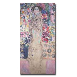 Gustav Klimt 'Poetrait of Maria Munk' Vertical Canvas Art