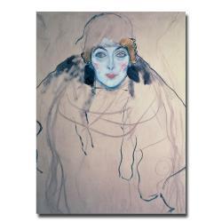 Gustav Klimt 'Head of a Woman' Canvas Art