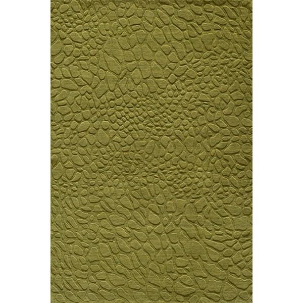 Loft Stones Grass Hand-Loomed Wool Rug (8' x 11')