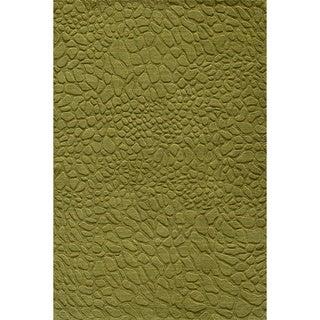 Loft Stones Grass Hand-Loomed Wool Rug (2' x 3')