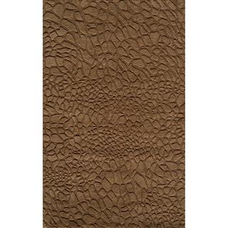 Loft Stones Brown Hand-Loomed Wool Rug (2' x 3')