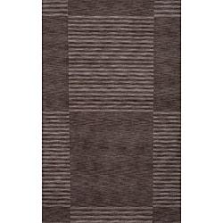 """Loft Charcoal Blocks Hand-Loomed Wool Rug (9'6"""" x 13'6"""")"""