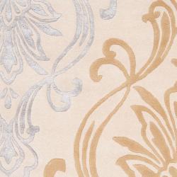 Hand-tufted Ivory Eurydice Damask Design Wool Rug (3'3 x 5'3)