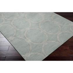 Hand-tufted Blue Colosseum Trellis Pattern Wool Rug (3'3 x 5'3) - Thumbnail 1