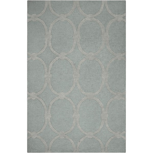 "Hand-tufted Blue Colosseum Trellis Pattern Wool Area Rug - 3'3"" x 5'3"""