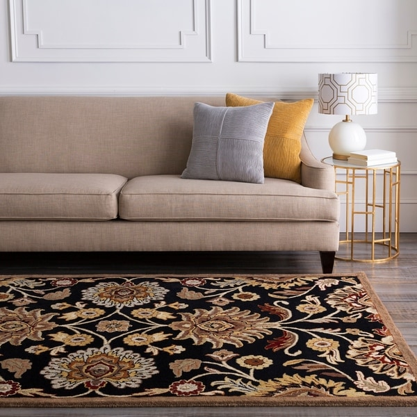 Hand-tufted Black Anvik Wool Area Rug - 12' x 15'
