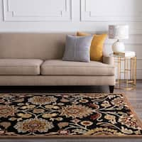 Hand-tufted Black Anvik Wool Area Rug - 5' x 8'