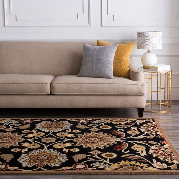 Hand-tufted Black Anvik Wool Area Rug - 8' x 11'