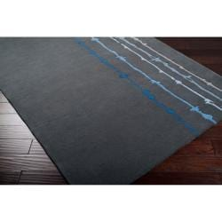 Noah Packard Hand-tufted Grey/Blue Contemporary Arbutus New Zealand Wool Abstract Rug (5' x 8') - Thumbnail 2