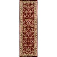 Hand-tufted Red Fria Wool Area Rug (2'6 x 8')
