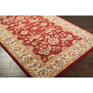 Hand-tufted Red Fria Wool Area Rug - 3' x 12' Runner
