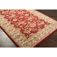 Hand-tufted Red Fria Wool Area Rug - 3' x 12'