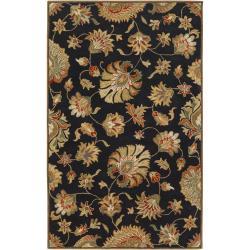 Hand-tufted Black Ahnapee Wool Rug (4' x 6')