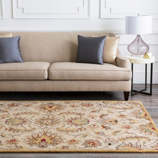 Hand-tufted Gold Alamosa Wool Area Rug - 4' x 6'