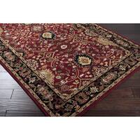 Hand-tufted Red Alatana Wool Area Rug (12' x 15')