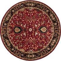 Hand-tufted Burgundy Alatana Wool Area Rug (4' Round)