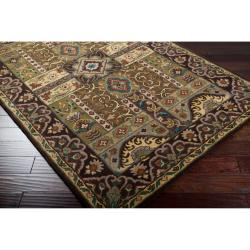 Hand-tufted Brown Amite Wool Rug (9' x 12') - Thumbnail 1