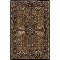 Hand-tufted Brown Amite Wool Area Rug - 9' x 12'